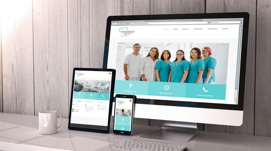 Zahnarzt Blaschyk – Website, Responsive Webdesign & Corporate Design