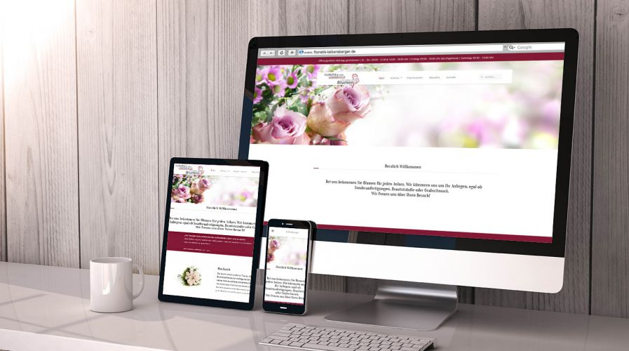 Floristik Leibersberger – Website, Responsive Webdesign, Corporate Design