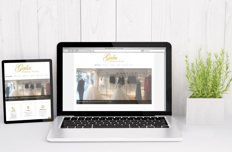 Gala Brautmoden – Website, Responsive Webdesign