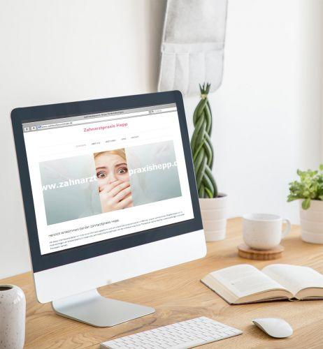 Zahnarztpraxis Hepp – Website, Responsive Webdesign